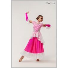 Платье для танцев стандарт Fenist Флоренция 716