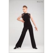 Майка для танцев Fenist Риф с сеткой 952/1